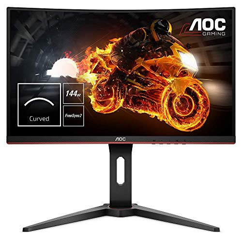 AOC Gaming C24G1 - 24 Zoll FHD Curved Monitor, 144 Hz, 1ms, FreeSync...