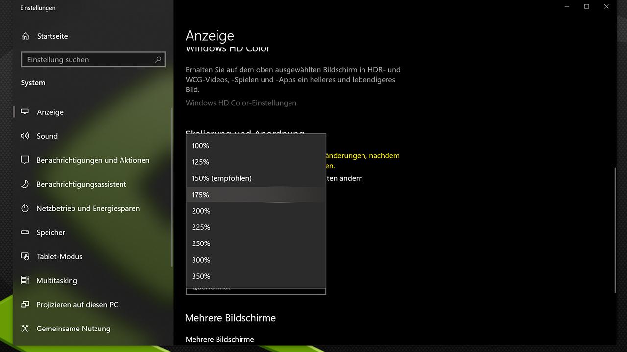 4K Monitor richtig skalieren auf Windows 10