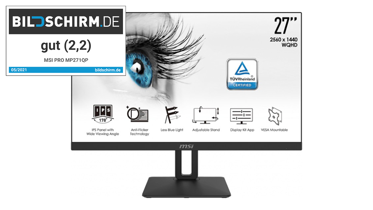 MSI PRO MP271QP - augenschonender Monitor