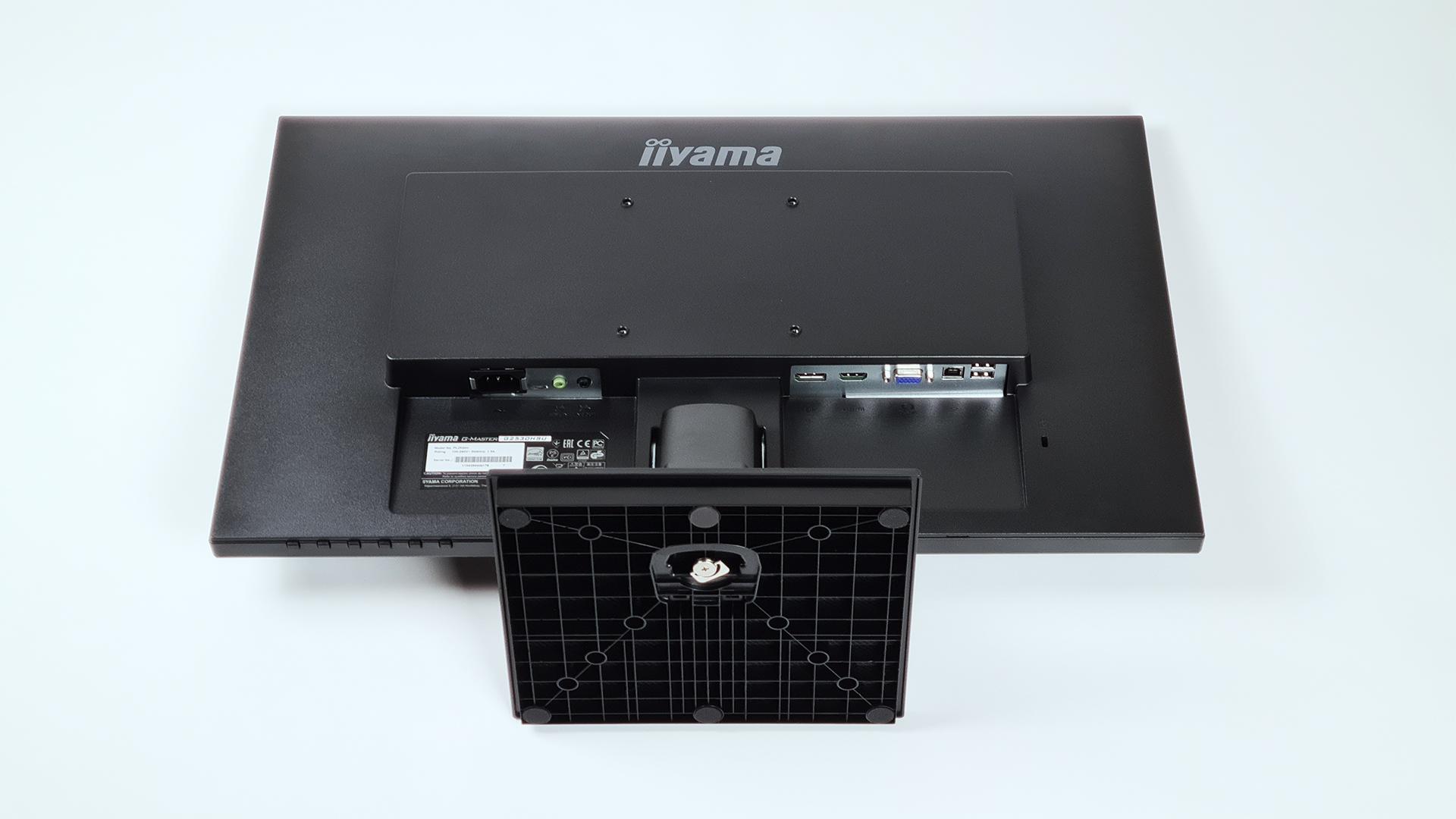 Iiyama G-MASTER G2530HSU-B1 Black Hawk hintere Ansicht: Anschlüsse