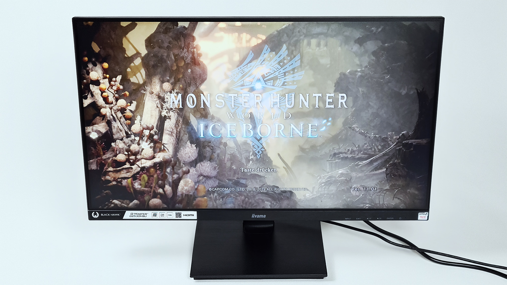 G-MASTER G2530HSU-B1 Black Hawk im Test auf der PS4 Pro und Monster Hunter World: Iceborne