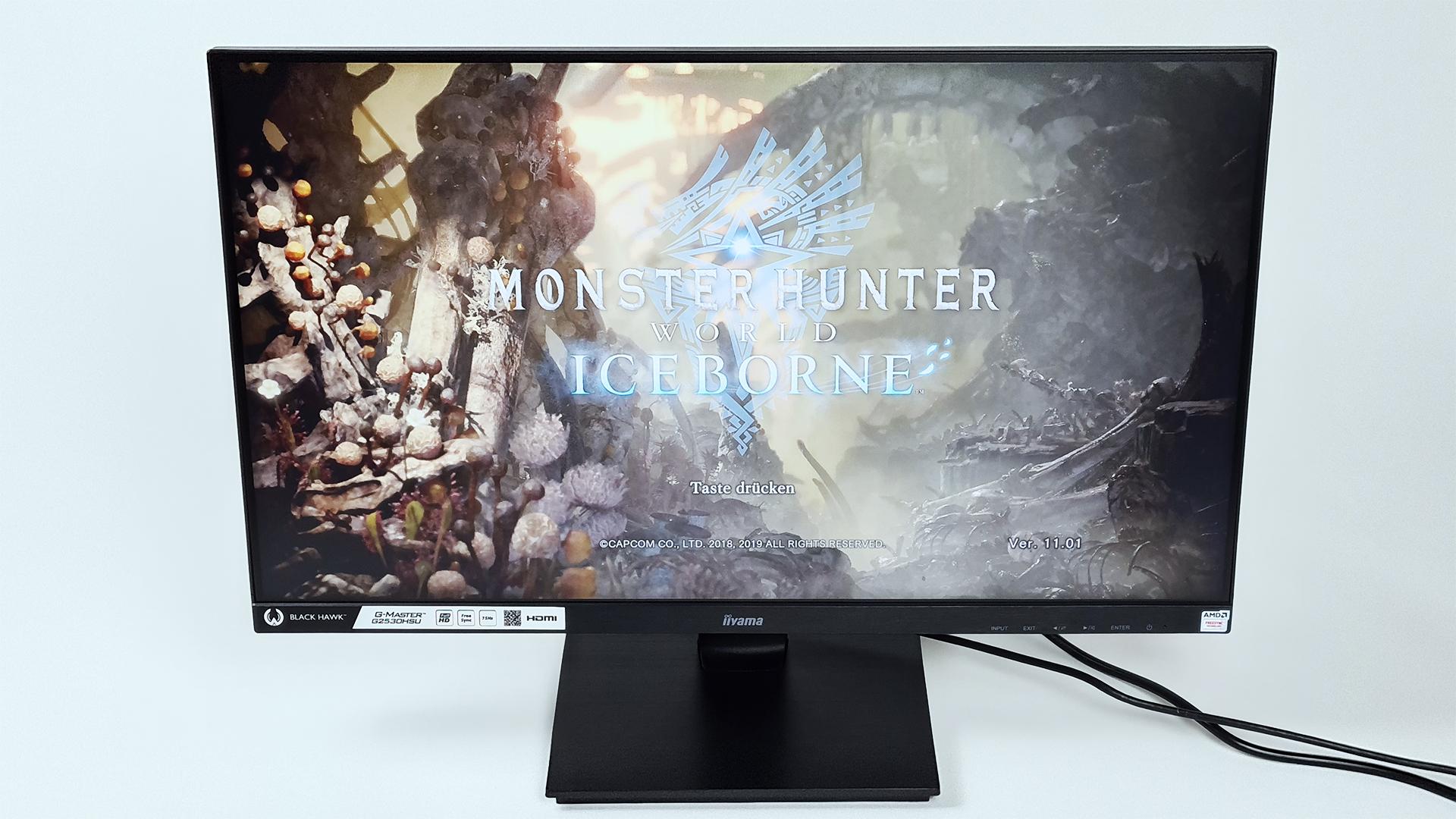 G-MASTER G2530HSU-B1 Black Hawk im Test auf der PS4 Pro und Monster Hunter World: Iceborne