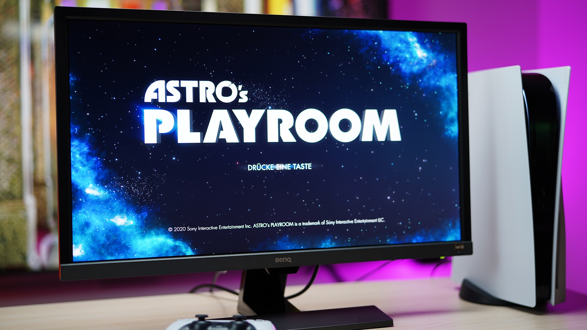 BenQ EL2870U Gaming Test mit der Playstation 5 - Spiel: Astros Playroom