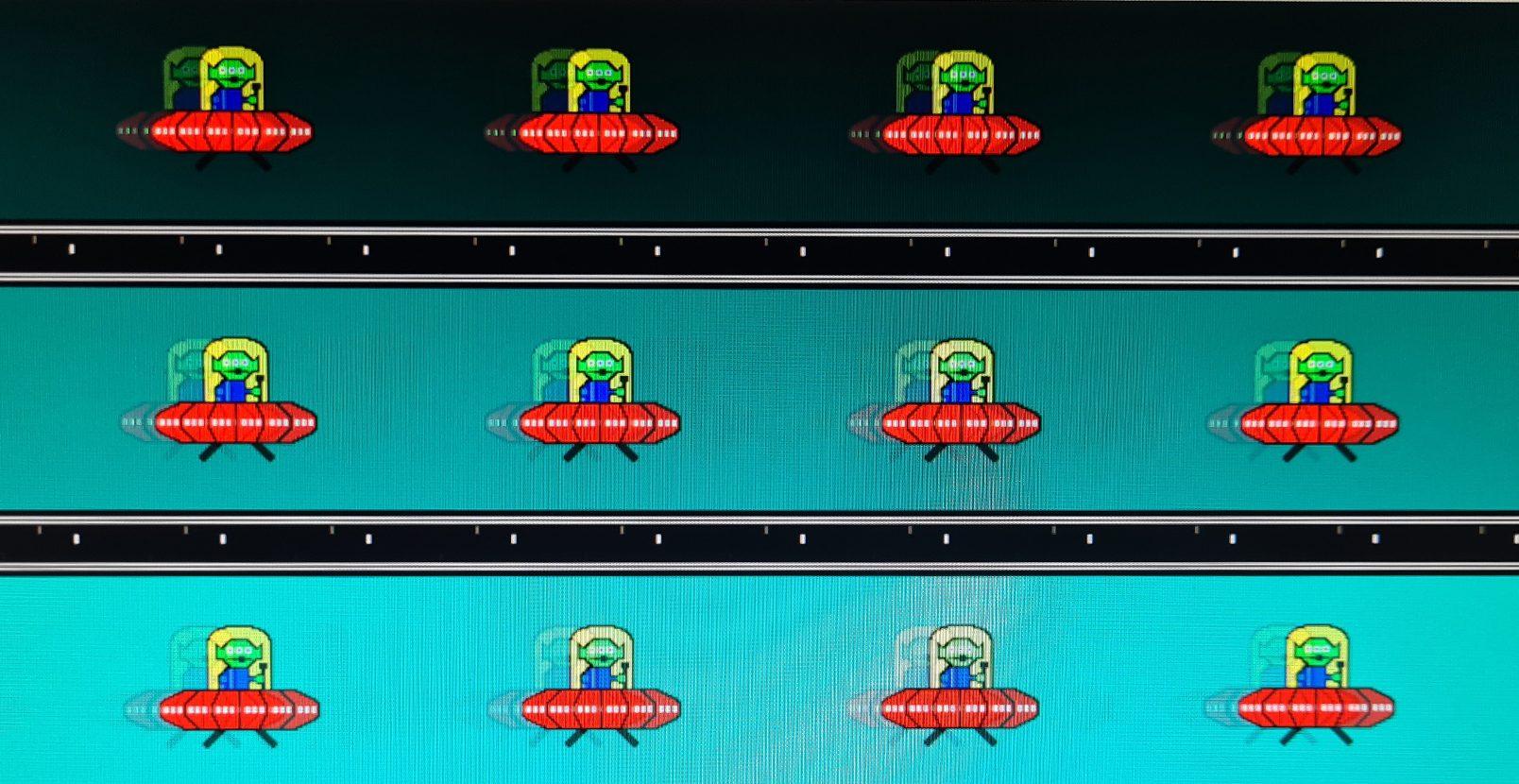 BenQ EL2870U Motion Blur Reaktionsverhalten