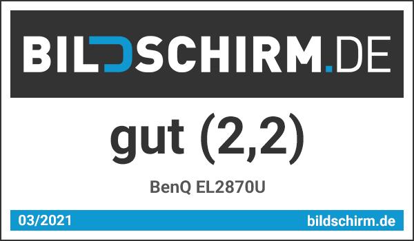 BenQ EL2870U Test - Bildschirm.de Award Testsiegel