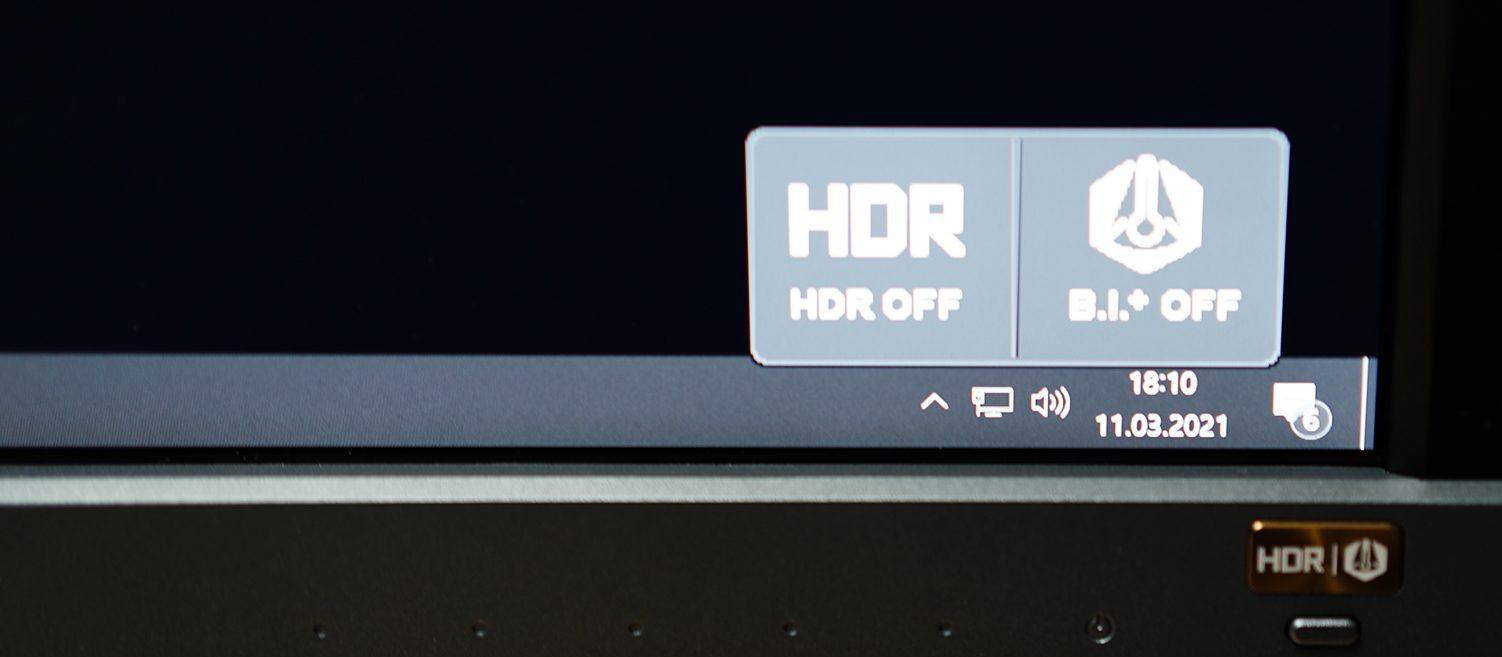 BenQ EL2870U Test OSD HDR