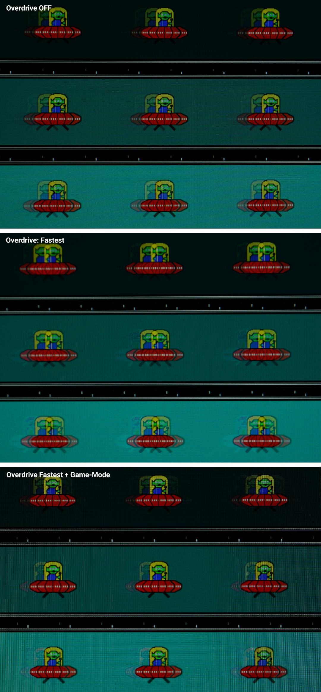 MSI MP271QP - Abbildung von einem Motion-Blur Test von Testufo