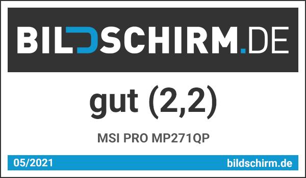 MSI PRO MP271QP - Bildschirm.de Award - Testsiegel