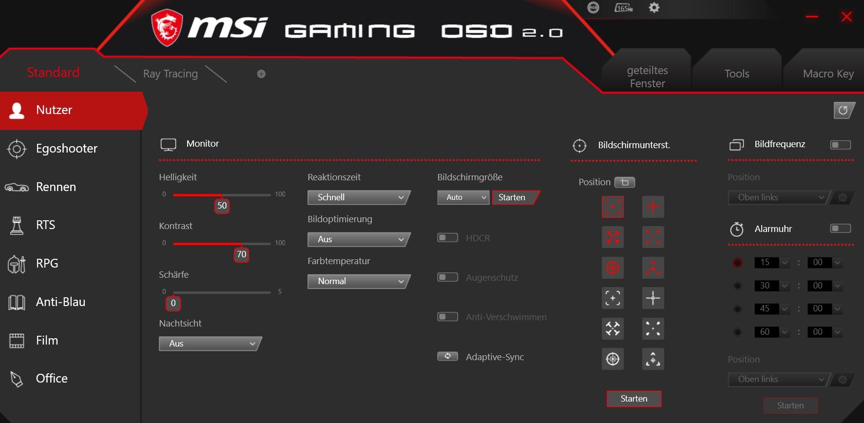 MAG274QRFDE-QD Gaming OSD