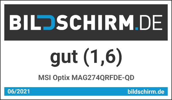 MSI Optix MAG274QRFDE-QD Bildschirm.de Testsiegel