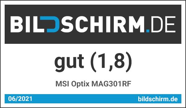 MSI Optix MAG301RF - Bildschirm.de Award Testsiegel