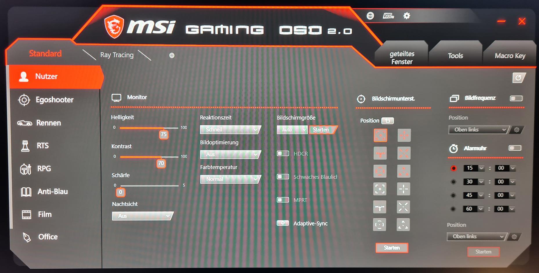 MSI Optix MAG301RF Gaming OSD