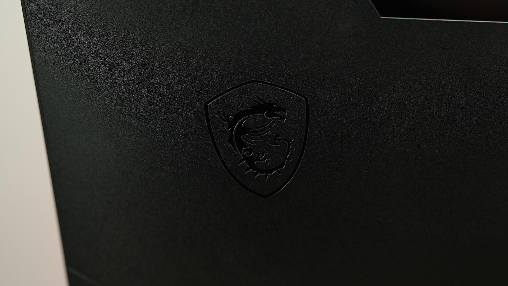 MSI Optix MAG301RF MSI-Logo auf Rückseite des Monitors